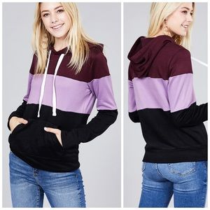 ❤️PREORDER French Terry Color Block Hoodie!